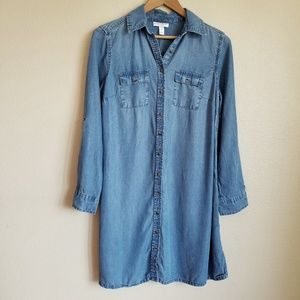 liz lange maternity chambray shirt dress size XS